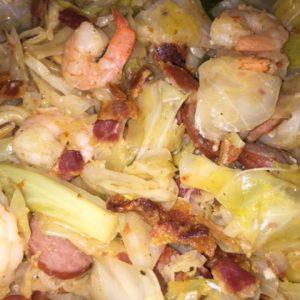 Lukes' Cajun Cabbage
